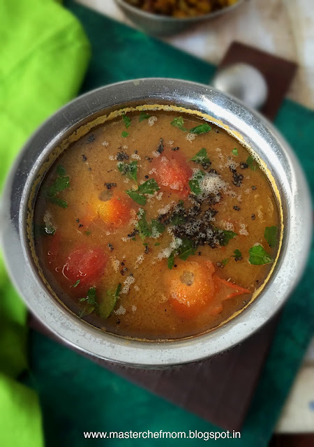 Chettinad Poondu Rasam | Garlic Rasam from Chettinad | How to make Garlic Rasam at home | Stepwise Pictures | Glutenfree Recipe
