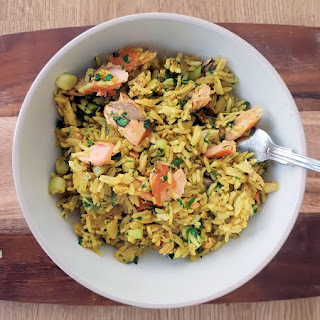 * Hot Smoked Salmon Kedgeree Stir Fry
