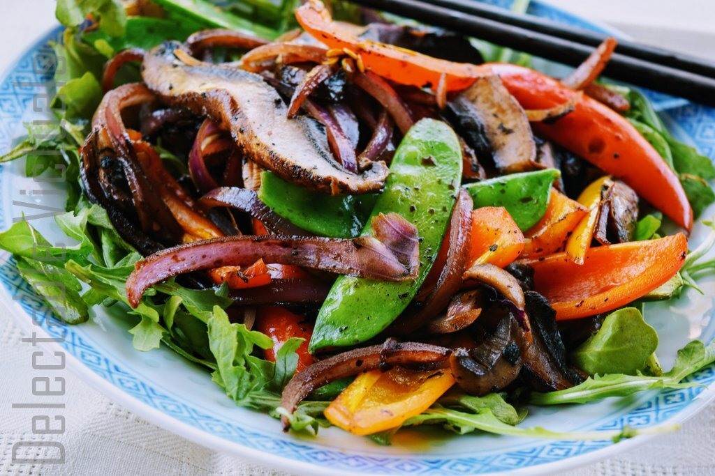 Stir-fried Portobello Mushrooms