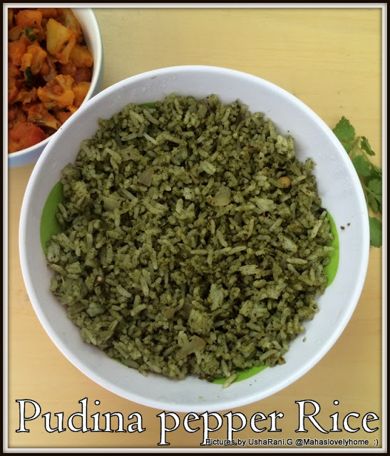 Pudina Pepper Rice | Mint Pepper Rice | Left Over Rice Recipes | Kids Lunch Box Ideas | Rice Recipes For Lunch