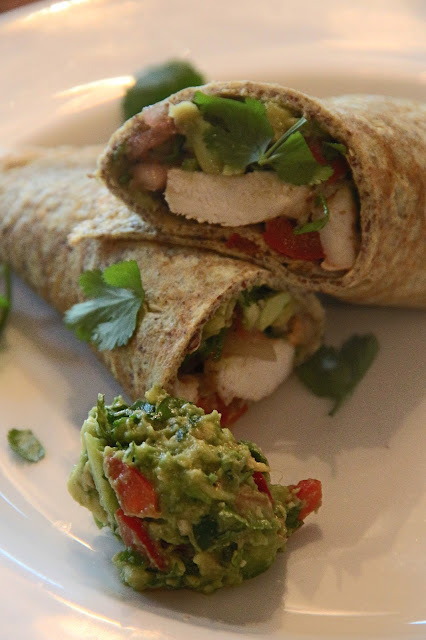 PALEO AVOCADO SPICY CHICKEN BURRITO