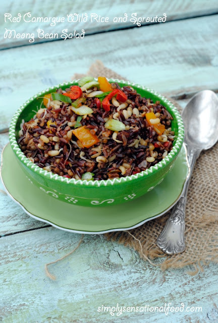 Red Camargue Wild Rice and Sprouted Moong bean Salad