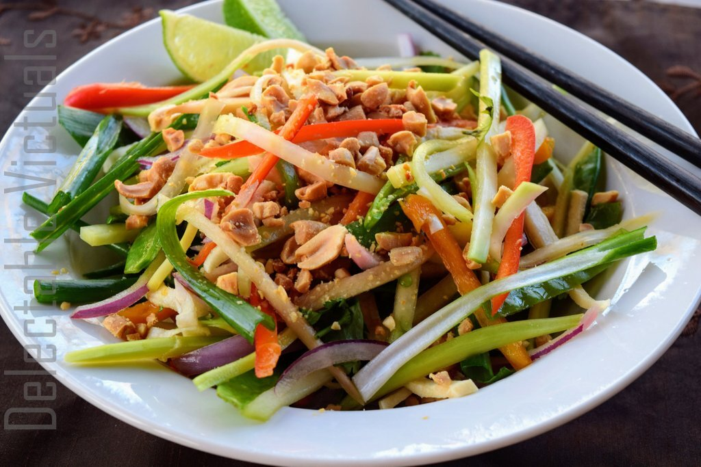 Green Papaya, Chayote Squash, Jicama, Ginger Thai-Style Salad
