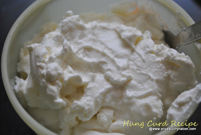 Hung Curd or hung yogurt Recipe,how to make hung dahi or hung curd