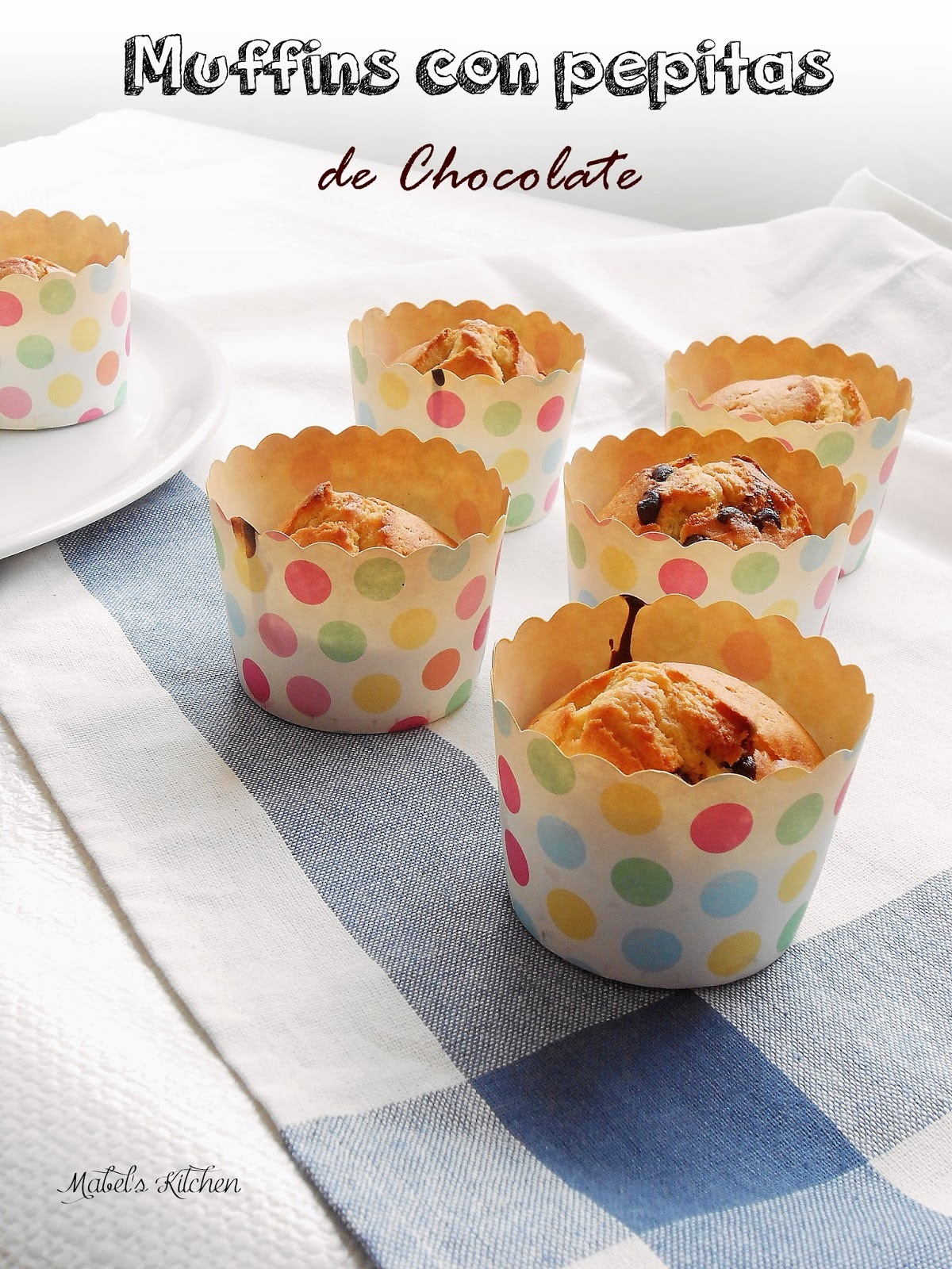 Muffins con Pepitas de Chocolate.