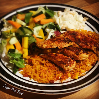 Slimming World Friendly Recipe:- Sweet Chilli & Mango Chicken Breast & Spicy Rice