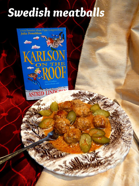 Swedish meatballs for Karlson on the roof and Smidge - #ReadCookEat