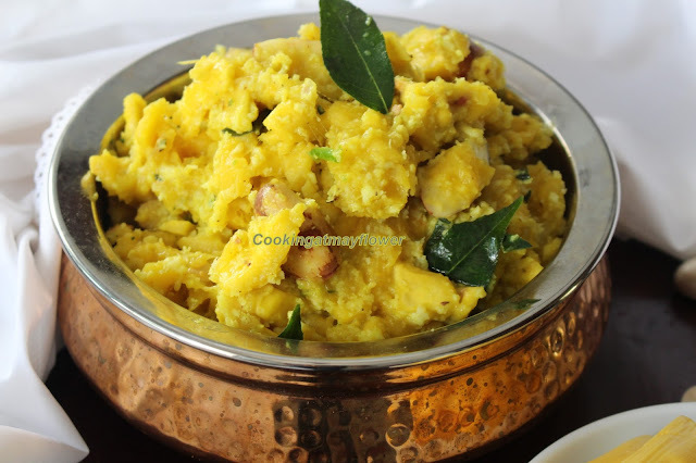 Chakka puzhukku/ Raw jackfruit cooked with coconut and spices