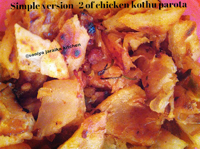 Simple Chicken 65 kothu parota version 2