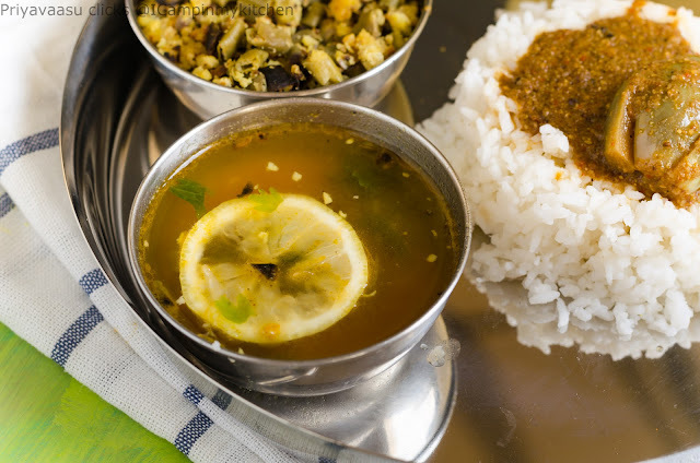 Yelumichampazham Rasam/Lemon Rasam - South Indian Lunch Menu
