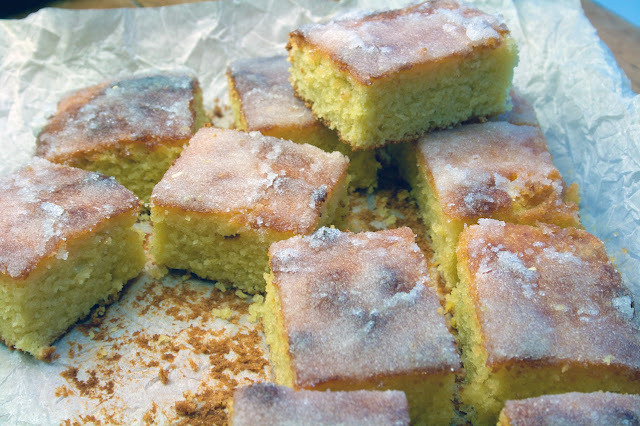 olive oil lemon and ground almond traybake - gluten free and dairy free