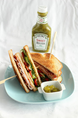 Club Sandwich met Heinz Sweet Relish