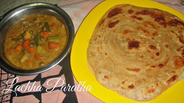 Lachha Paratha / Indian Layered Flatbread #Breadbakers