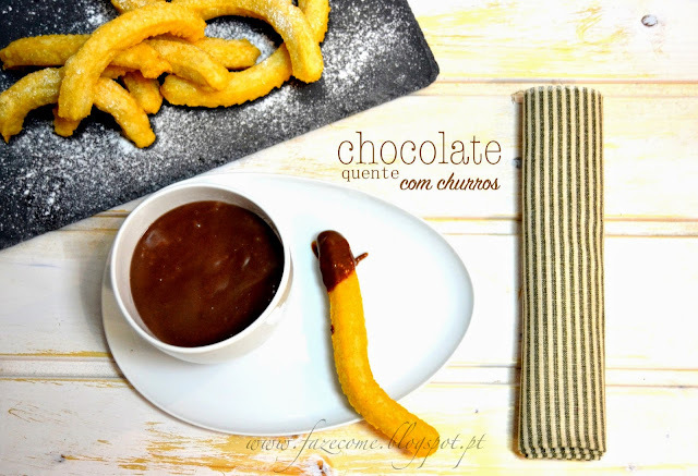 Chocolate quente com churros