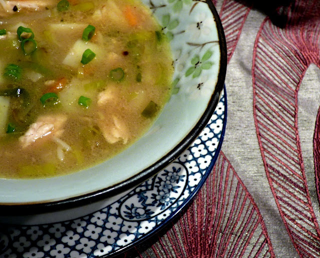 Coconut and curry chicken soup