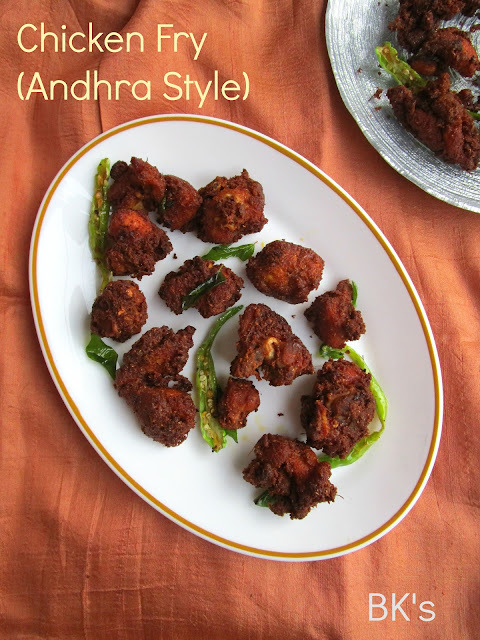 Chicken Fry (Andhra Style)