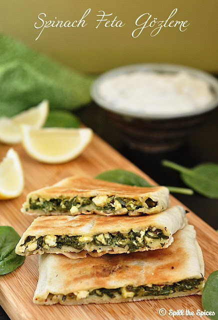 Spinach And Feta Gözleme #BreadBakers
