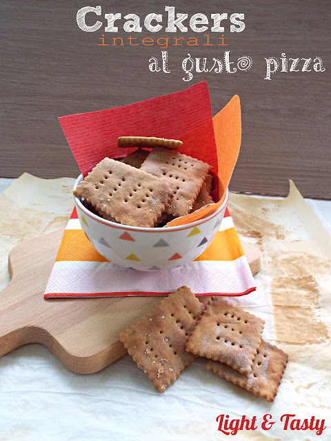 Crackers integrali al gusto pizza