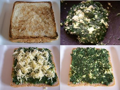 Spinach and Cheese Sandwich