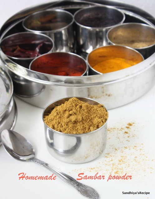 Sambar Powder | Home made Sambar Powder