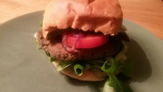 Lunch: vegetarische burger