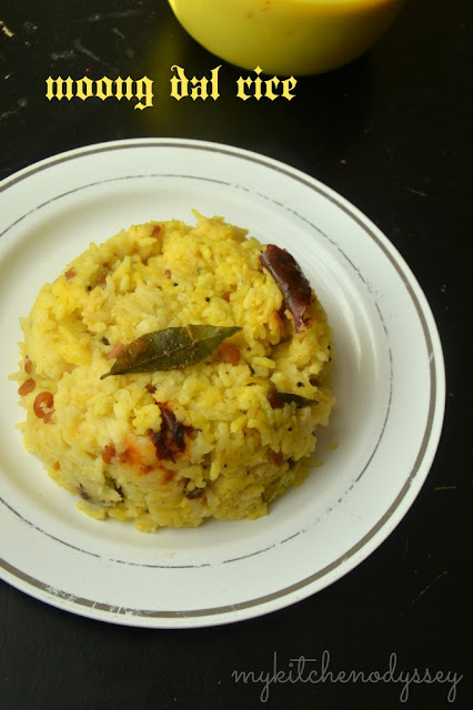 Dal Rice | Arisi Paruppu Sadam | Moong Dal Rice In Pressure Cooker