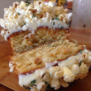 LEMON SHERBET AND THYME POPCORN CAKE