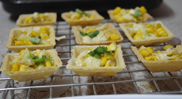 Corn  Canapes chaat | Easy Canape recipe