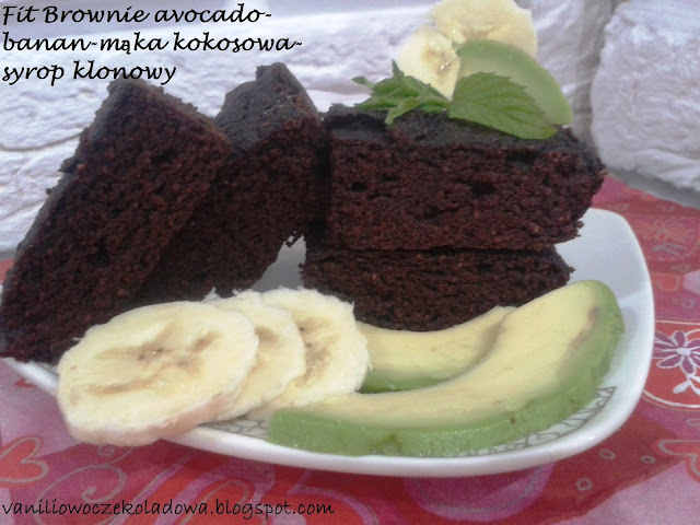 Brownie Fit. Bezglutenowe i z Avocado.
