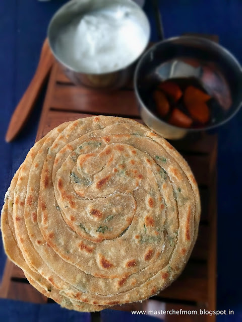 Lachha Paratha | Lachha Paratha with Pudina( Mint Leaves) | How to make Restaurant Style Lachha Paratha at home  | Easy Recipe with Video | Multi Layered Indian Flat Bread Recipe