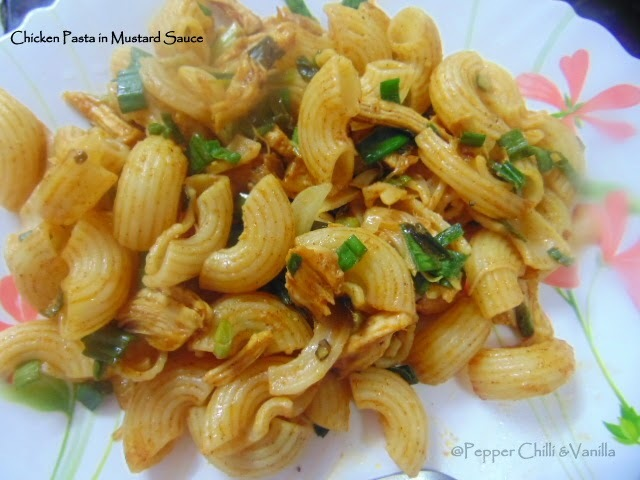 Chicken Pasta in Mustard Sauce