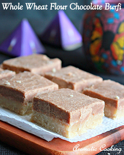 Whole Wheat Chocolate Burfi