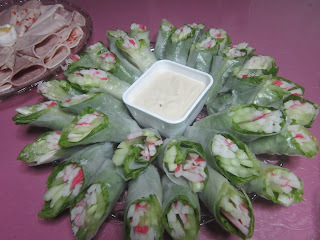 CRAB STICK and CUCUMBER SPRING ROLL