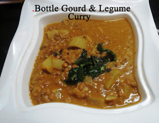 Bottle Gourd & Cow Pea + Moong Curry