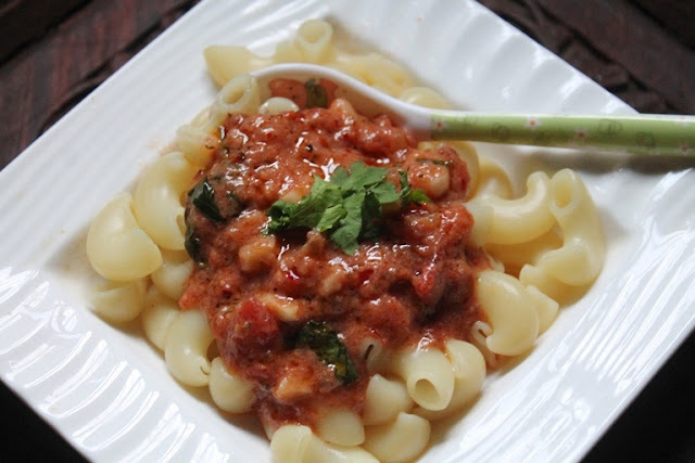 Pasta with Tomato Cream Sauce Recipe - Creamy Tomato Pasta Recipe