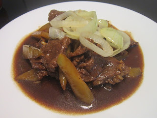 BEEF CHAYOTE in OYSTER SAUCE