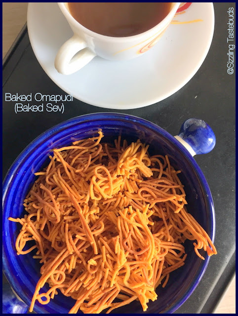 Omapodi (Baked version) | Baked Omapodi | How to make Baked Sev | Baked Savoury