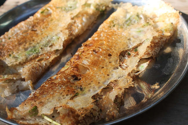 Onion Rava Dosa Recipe - Rava Dosa using Wheat Flour