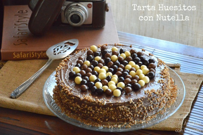 Tarta Huesitos con Nutella