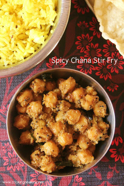 Spicy Chana Stir Fry