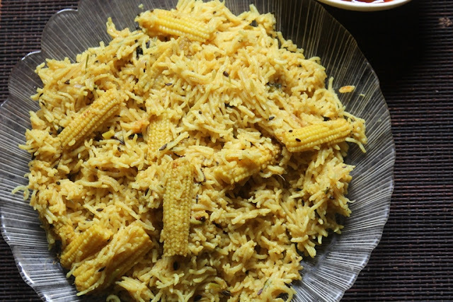 Baby Corn Pulao Recipe - Baby Corn Recipes