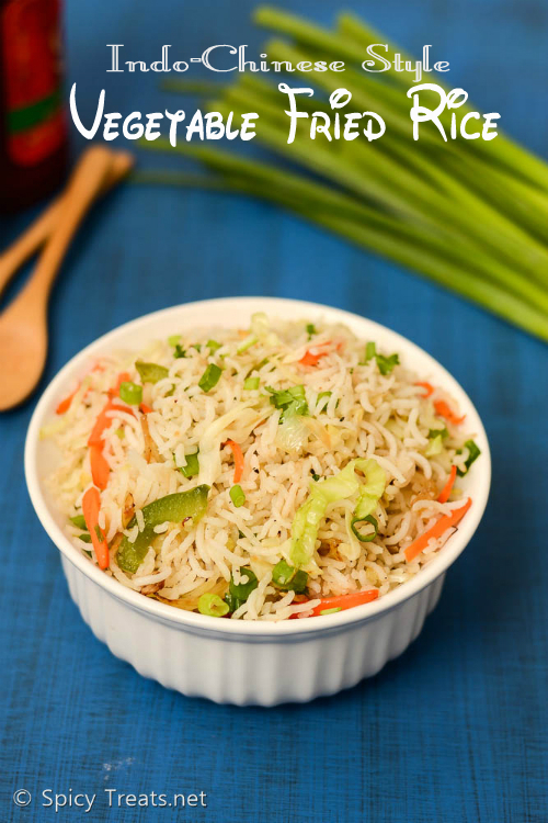 Indo-Chinese Veg Fried Rice Recipe | Vegetable Fried Rice Recipe | Restaurant Style Veg Fried Rice(Indo-Chinese Style)