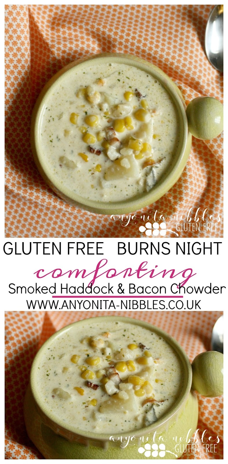 Gluten Free Smoked Haddock and Bacon Chowder - Burns Night