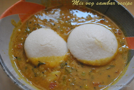 mixed vegetable sambar recipe, how to make south indian sambar at home