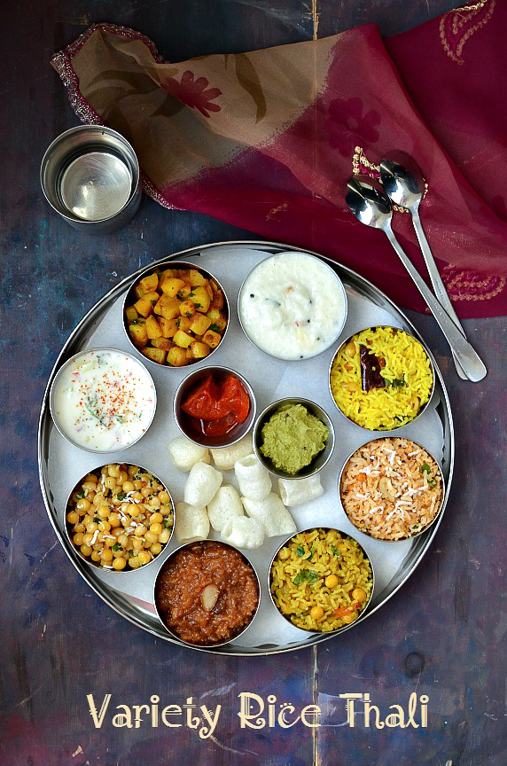 Variety Rice Thali 2 - Coconut Rice