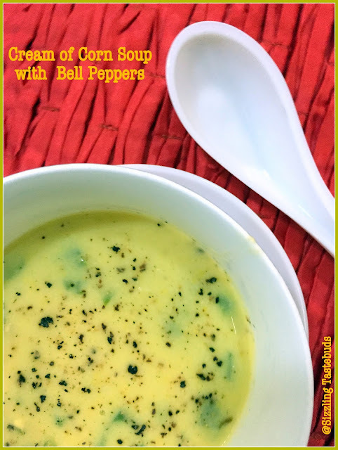 Cream of Corn Soup with Bell Peppers | Easy Soup Recipes...