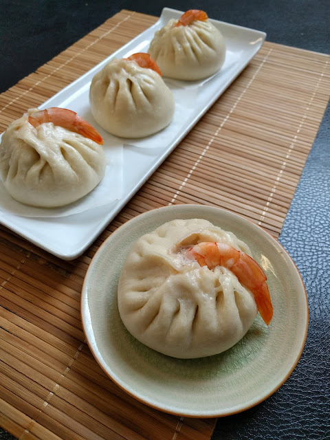 鮮蝦鳳尾包 肉包多折做法 食譜  Shrimp pork steam buns recipe  how to fold shape a  steamed bun