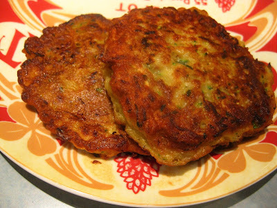 Courgette and potato fritters