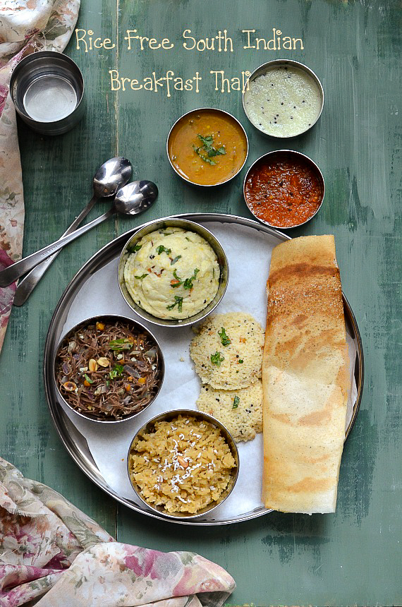 Rice Free South Indian Breakfast Thali - Saamai Venpongal / Little millet Venpongal