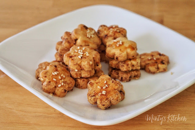 Sambal Pork Floss Cookies